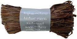Raffia-Naturbast, schokobraun