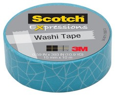 3M Scotch Kreativ-Klebefilm, 15 mm x 10 m, mosaik-aquamarin