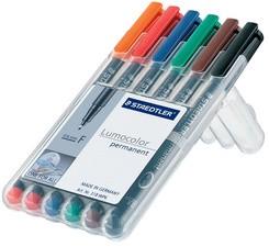 STAEDTLER Lumocolor Permanent-Marker 313S, 6er Etui