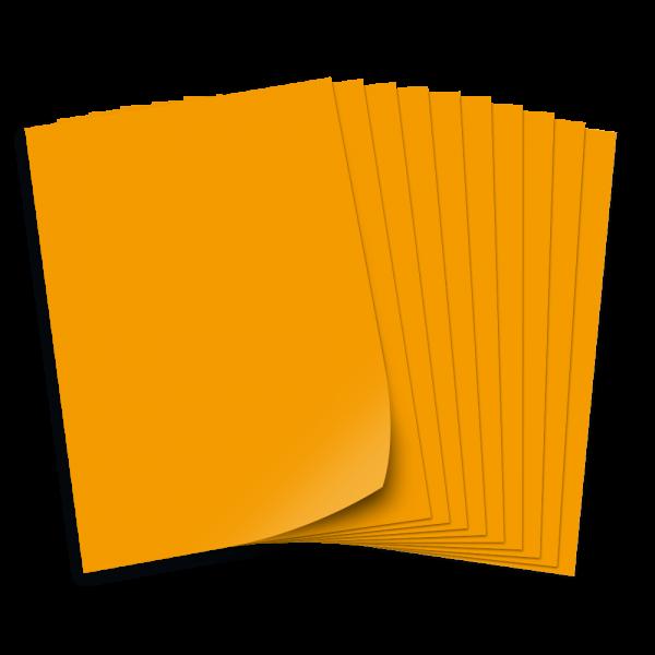 Tonpapier 130g/qm, DIN A4, 50 Bogen, ockergelb