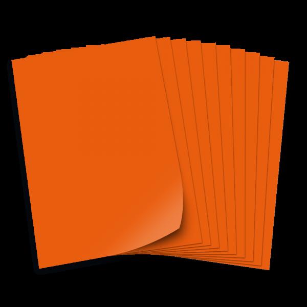 Tonpapier 130g/qm, 50x70cm, 10 Bogen, orange