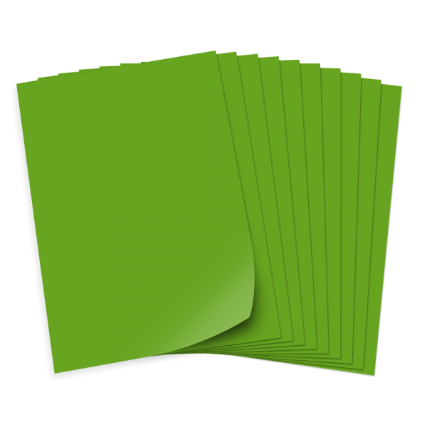 Bastelkarton 220g/qm, 50x70cm, 10 Bogen, minzgrün