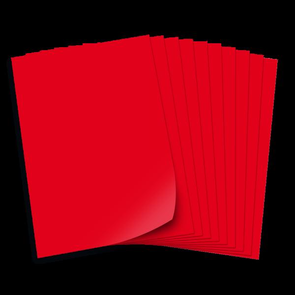 Tonpapier 130g/qm, DIN A3, 50 Bogen, rot