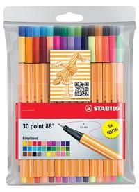 STABILO Fineliner point 88, 30er Kunststoff-Etui