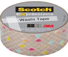 3M Scotch Kreativ-Klebefilm, 15 mm x 10 m, bunt gespränkelt