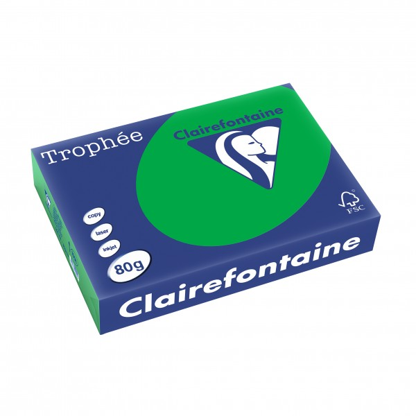Clairefontaine Multifunktionspapier Trophée,, A4, 80 g/qm, 500 Blatt, intensivgrün