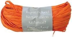 Raffia-Naturbast, orange