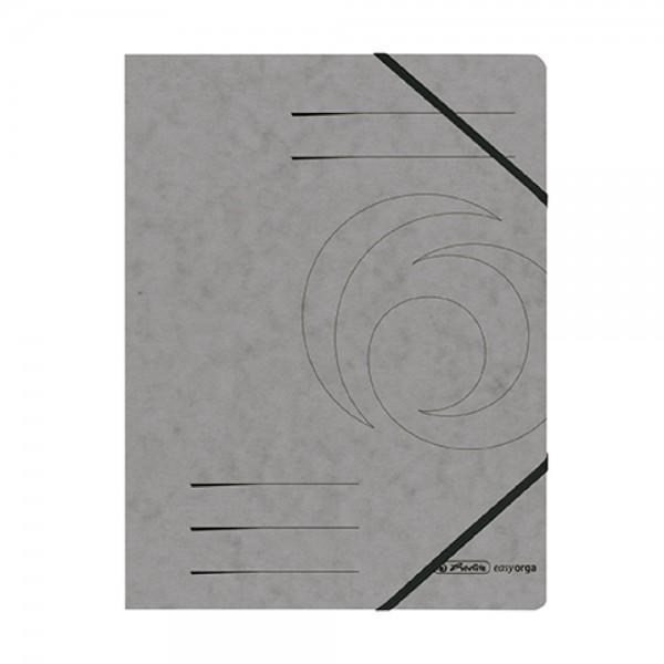 herlitz Eckspanner easyorga, A4, Colorspan-Karton dunkelgrau