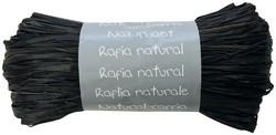 Raffia-Naturbast, schwarz