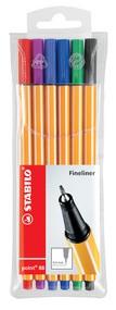 STABILO Fineliner point 88, 6er Kunststoff-Etui