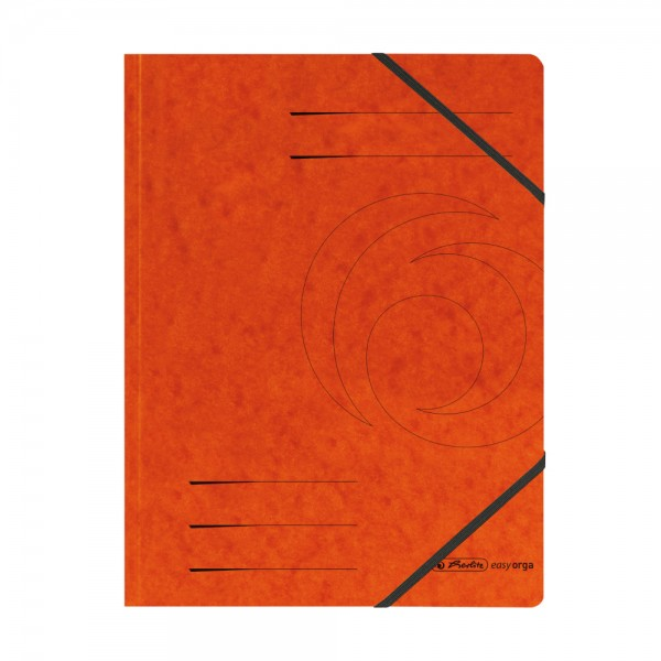 herlitz Eckspanner easyorga, A4, Colorspan-Karton, orange