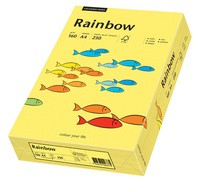 PAPYRUS Multifunktionspapier Rainbow, A4, 160 g/qm, gelb
