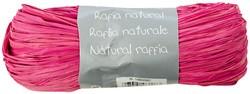 Raffia-Naturbast, rosa