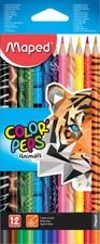 Maped Dreikant-Buntstift COLOR'PEPS Animals, 12er Kartonetui
