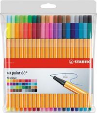 STABILO Fineliner point 88, 40er Kunststoff-Etui