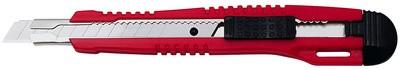 WEDO Profi-Cutter, Klinge: 9 mm, mit Clip, rot/schwarz