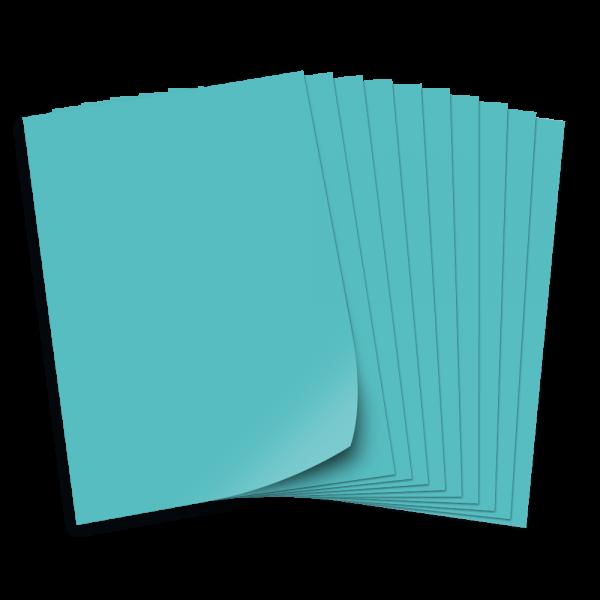Bastelkarton 220g/qm, 50x70cm, 10 Bogen, hellblau