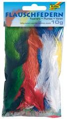 Flauschfedern, 10 g, farbig sortiert