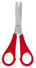 Bastelschere, rund, farbig sortiert, Länge: 130 mm, für Rechtshänder