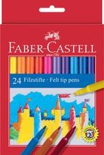 FABER-CASTELL Fasermaler, 24er Kartonetui
