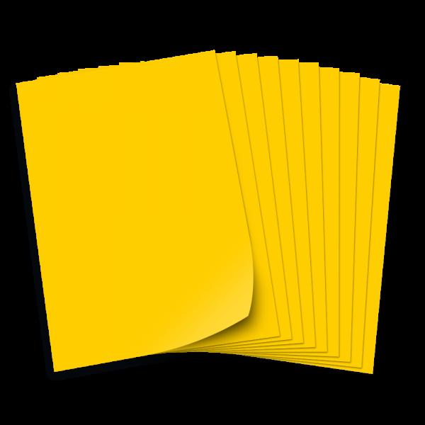 Tonpapier 130g/qm, DIN A3, 50 Bogen, bananengelb