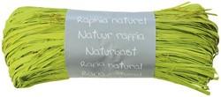 Raffia-Naturbast, limonengrün