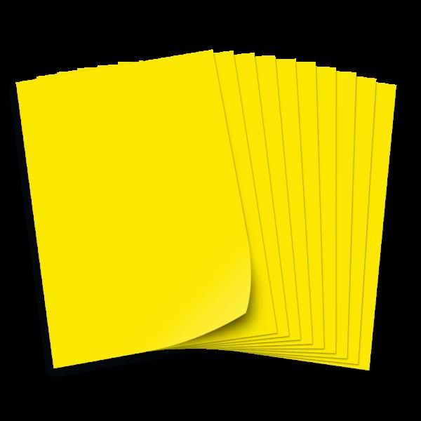 Tonpapier 130g/qm, DIN A3, 50 Bogen, zitronengelb
