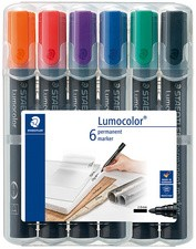STAEDTLER Lumocolor Permanent-Marker 352, 6er Etui