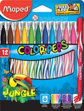 Maped Fasermaler COLOR'PEPS Jungle, 12er Kartonetui