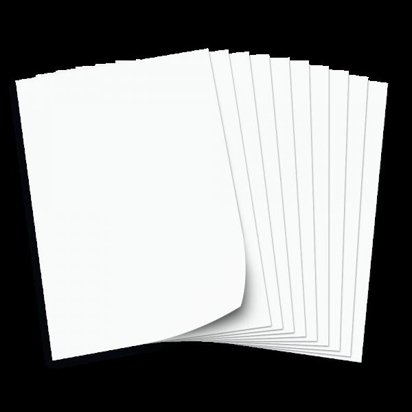 Tonpapier 130g/qm, DIN A4, 100 Bogen, weiß