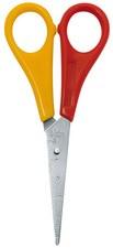 Bastelschere, spitz, farbig sortiert, Länge: 130 mm, für Linkshänder