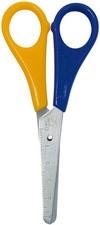 Bastelschere, rund, farbig sortiert, Länge: 130 mm, für Linkshänder