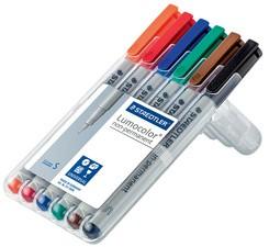 STAEDTLER Lumocolor NonPermanent-Marker 311S, 6er Etui