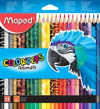 Maped Dreikant-Buntstift COLOR'PEPS Animals, 24er Kartonetui