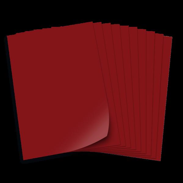 Tonpapier 130g/qm, DIN A3, 50 Bogen, dunkelrot