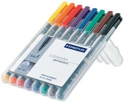 STAEDTLER Lumocolor Permanent-Marker 313S, 8er Etui