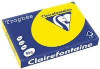 Clairalfa Multifunktionspapier Trophée, A3, 80g/qm, neongelb