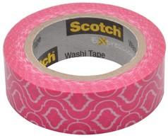 3M Scotch Kreativ-Klebefilm, 15 mm x 10 m, mosaik-pink